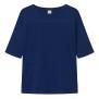 T-shirt med ficka, marinblå