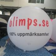 Jätteballong 2- 4 meter i diameter
