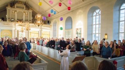 Kalls kyrka 150 år - Festgudstjänst. foto Sven-Erik Jönsson