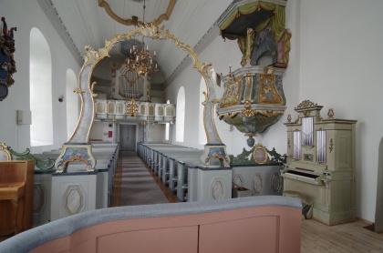 Orgel i Näs kyrka. foto Michael Eriksson