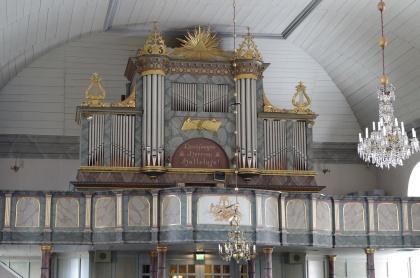 Orgelfasaden Brunflo. foto Michael Eriksson