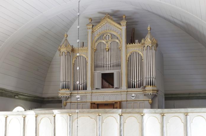 Lockne kyrkans orgel. foto Michael Eriksson