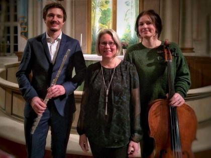 Trio BÅDA. Fredrik Dahlberg, Helen Alvebro och  Katarina Bergner Åhlén