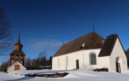 Mattmars kyrka. foto Sofi Saltkjel