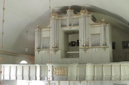 Orgelfasaden Sunne. foto Michael Eriksson