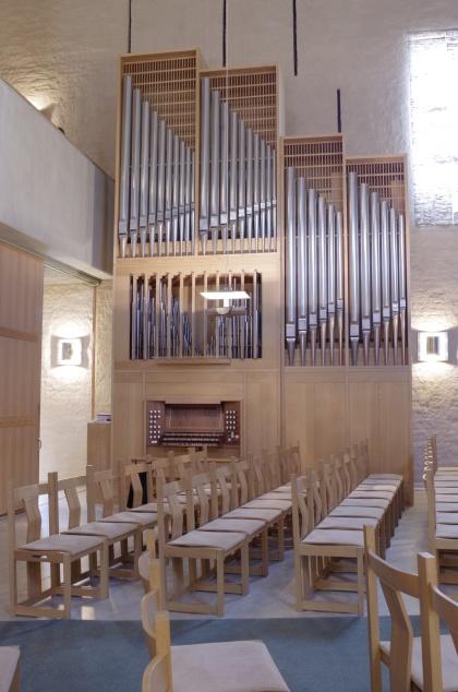 Hornsbergskyrkans orgel. foto Michael Eriksson