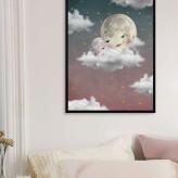 Baby moon pink Print