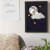Misty Moon Print