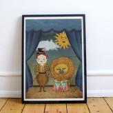Lion buddies | Circus Contraire | Print