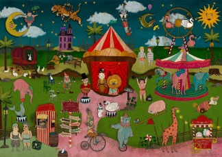 ​​​​​​​Circus Contraire 50x70 Print -