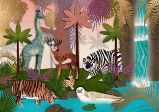 Jungle Utopia Print 50x70 -