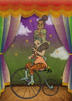 Biking with Pride | Circus Contraire | Print - Biking with Pride