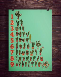Kaktus Räkna | Print -