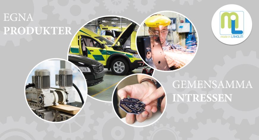 Bilden visar produkter från Spitze, Nilsson Special Vehicles och Meta Bytes som ni kan läsa mer om på sidan om företagen.