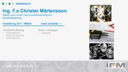 Ingenjörs firma Christer Mårtensson