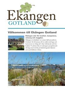 Presentationsfolder Ekängen Gotland