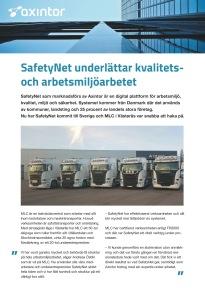 Säljblad Axintor-SafetyNet
