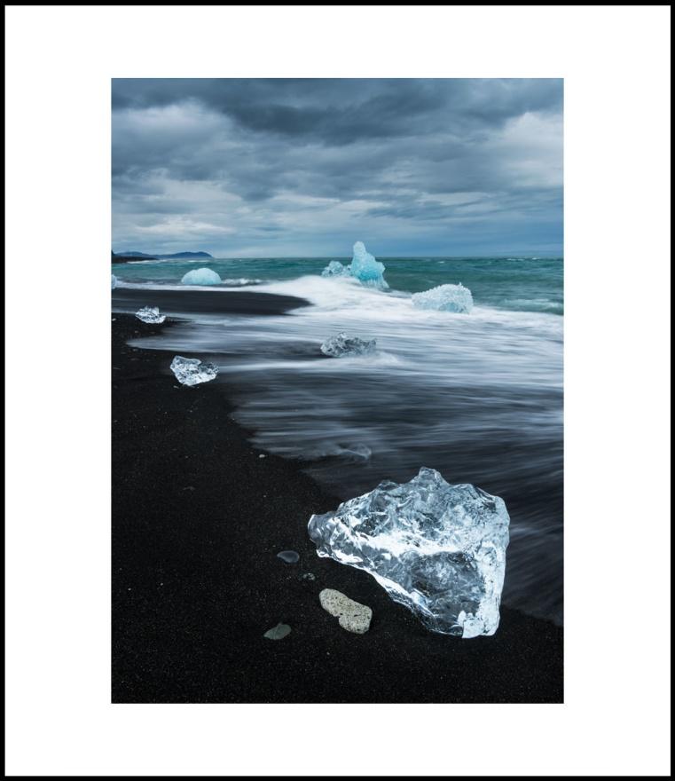 Diamond beach - Patrik Leonardsson Diamond beach Limited edition 42x59,4 cm (A2). Papper, Hahnemühle Fineart Pearl.