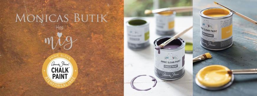 Gjuta i betong. Monicas Butik är återförsäljare för Annie Sloan Chalk Paint™ kalkfärg för betongföremål ute och inne.