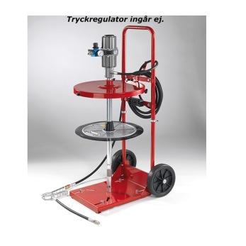 SMÖRJAGGREGAT 1/4 fat med 2-hjulig vagn - SMÖRJAGGREGAT 50 kg VAGN TN
