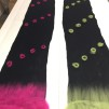 Tovade Produkter - Svart merinoull sjal med prickar