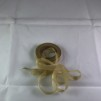 Sidenchiffong Band 1 cm - Chiffong band per meter - Guld