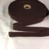 Förfilt i merinoull 2,5 cm band - Förfilt 2,5 cm per meter - Choklad