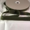 Förfilt i merinoull 2,5 cm band - Förfilt 2,5 cm per meter - Gräsgrön