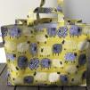 Väska - Får - Stor väska I hård canvas 42*32 cm