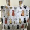 Väska - Katter på rad - Lunchväska i tjock PVC plast