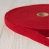 Förfilt i merinoull 2,5 cm band - Förfilt 2,5 cm per meter - Rosenröd