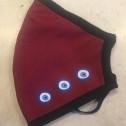 Μάσκα Προσώπου Ενηλίκων - Face mask adult - Μπορδό με μάτια -  bordaux with eyes