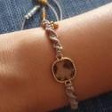 Βραχιόλι κροσέ με διάφορα σχέδια - Crocheted bracelets with different details - Μπέζ κροσέ με χρύσο καο καφέ σχέδιο