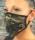 face mask black, grey, beige pattern