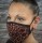 face mask bordaux animal paint