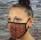 face mask bordaux pattern