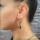 earring black and beige stone
