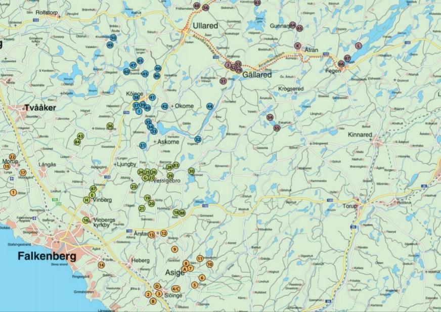 Slättbygden Karta ekomuseum nedre Ätradalen