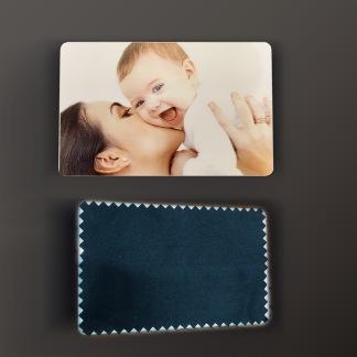 Plastkort med Putsduk - Kort/Putsduk/Eget Tryck
