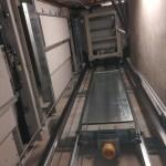 Hisskorg och hissmotvikt