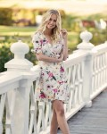 DAHLIA DRESS WHITE/ROSEBUD7 Caprin Collection