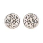 Silver öronhänge med kristaller från Gemini.