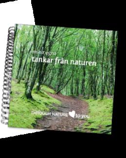 Mina tankar från naturen - skrivbok -