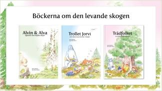 Tre böcker av levande skogen -