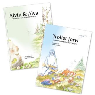 Bok 1 och 2 i serien om den levande skogen - De två första böckerna i bokserien om Alva och Alvin