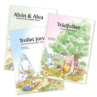 Bok 1, 2 och 3 i serien om den levande skogen - Bokpaket