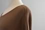 Boomerang stickad brun klänning