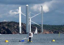 Det flytande vindaggregatet från Seatwirl kan användas på djupare vatten. Foto: Seatwirl