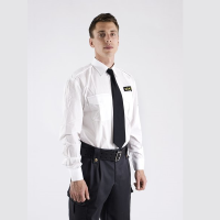 Väktare Uniformsskjorta Vit lång ärm, Safetysec