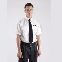 Väktare Uniformsskjorta Vit kort ärm, Safetysec